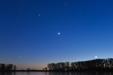 WENUS W KĄPIELI. Wenus, Księżyc, Mars i Fomalhaut.