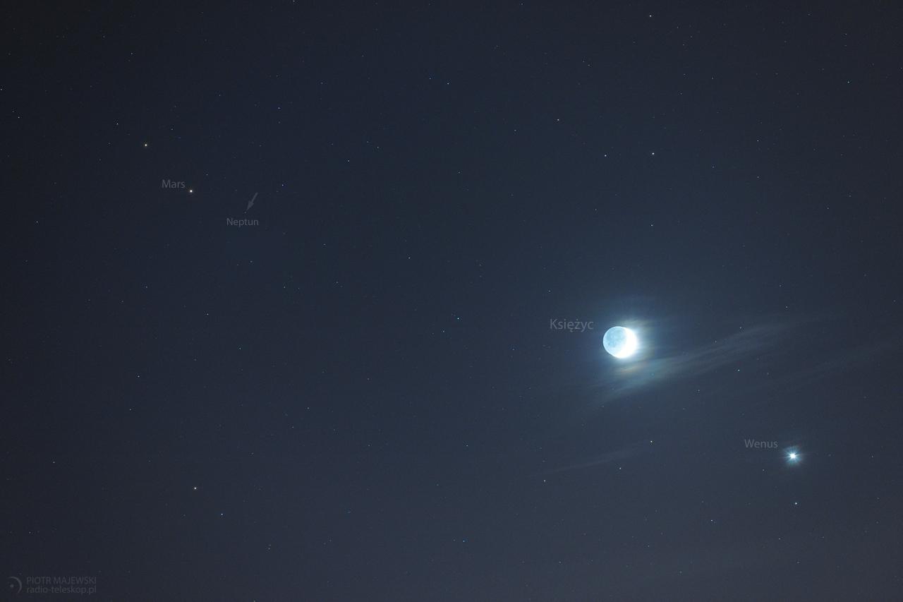 SZAŁ NIEBIESKICH CIAŁ 2.0. Księżyc, Wenus, Mars i Neptun.