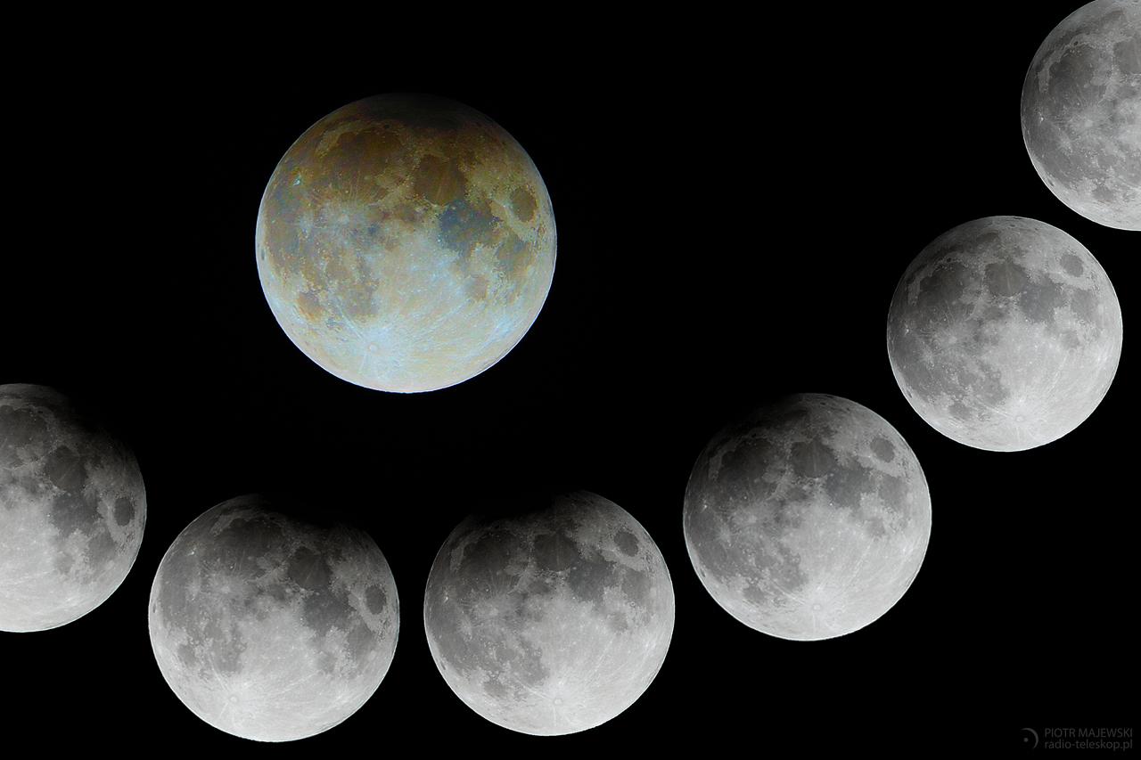 TUPECIK ŁYSEGO. Półcieniowe zaćmienie Księżyca nocą z 10 na 11 lutego 2017 roku.