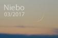 NOWY MIESIĄC. Księżyc 26 godzin po nowiu sfotografowany 27 lutego 2017 roku.