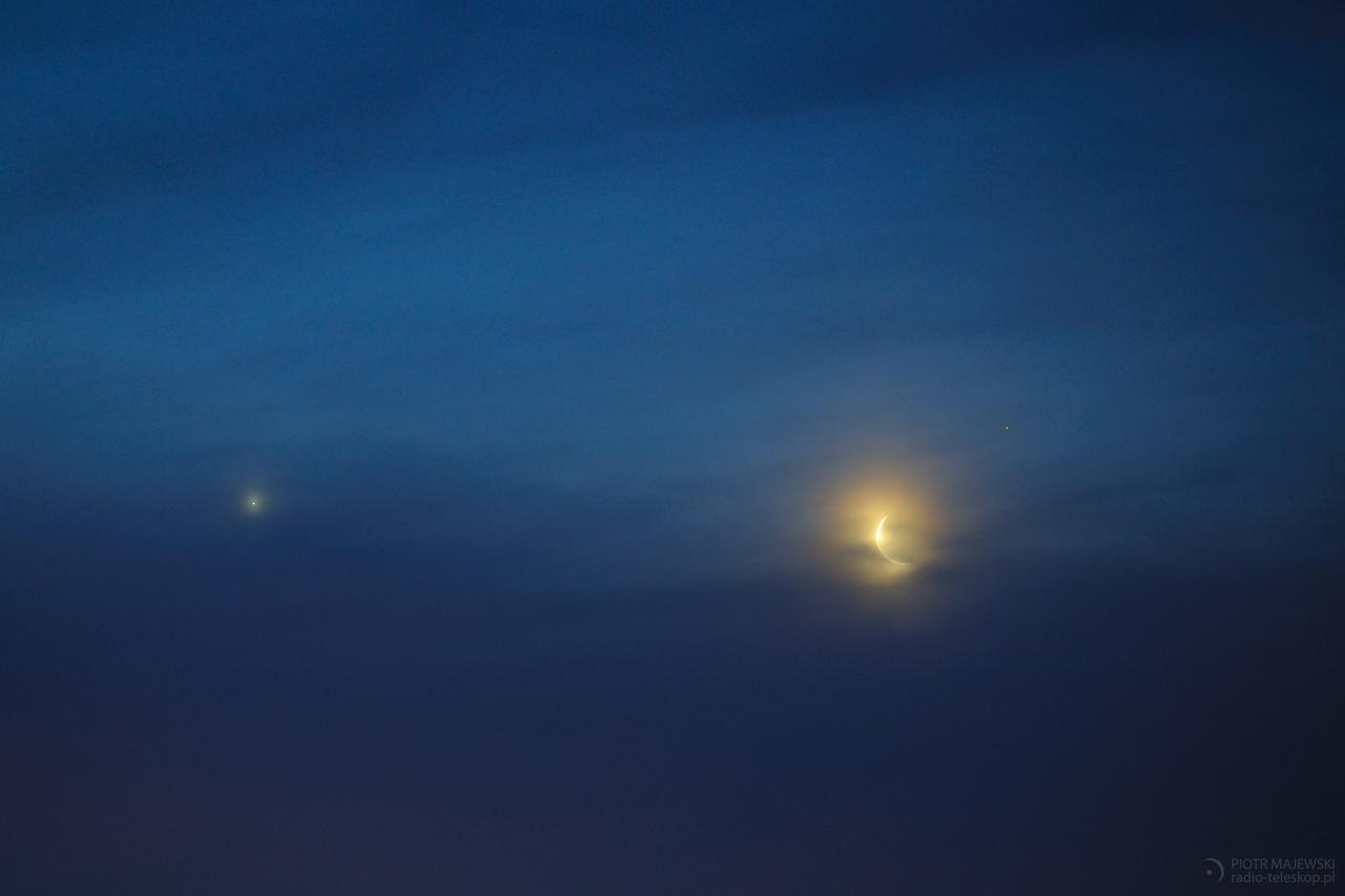 PORANNA KĄPIEL. Złączenie Księżyca z Wenus i Aldebaranem.