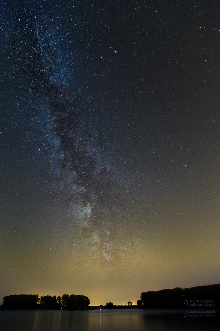 POŻEGNANIE LATA. Letnia Droga Mleczna nad Jeziorem Gopło.