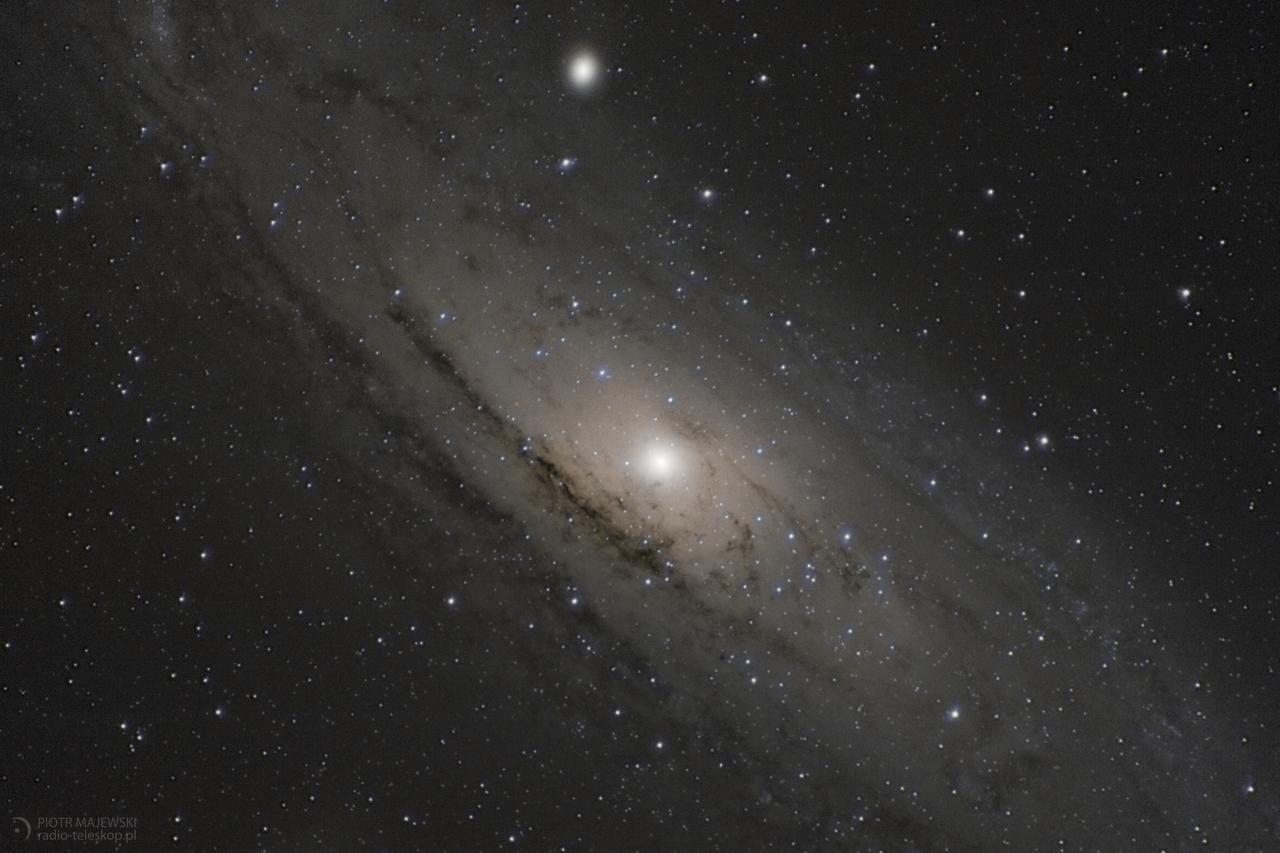 WIELKA GALAKTYKA. Galaktyka Andromedy (M31) sfotografowana w obserwatorium UMK.