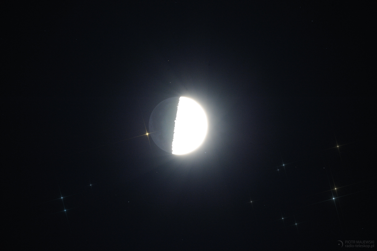 BLISKIE SPOTKANIE. Zakrycie Aldebarana przez Księżyc 23.02.2018.