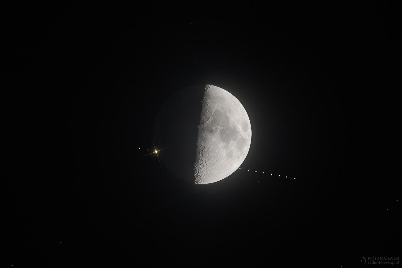 ZABAWA W CHOWANEGO. Zakrycie Aldebarana przez Księżyc 23 lutego 2018 roku.