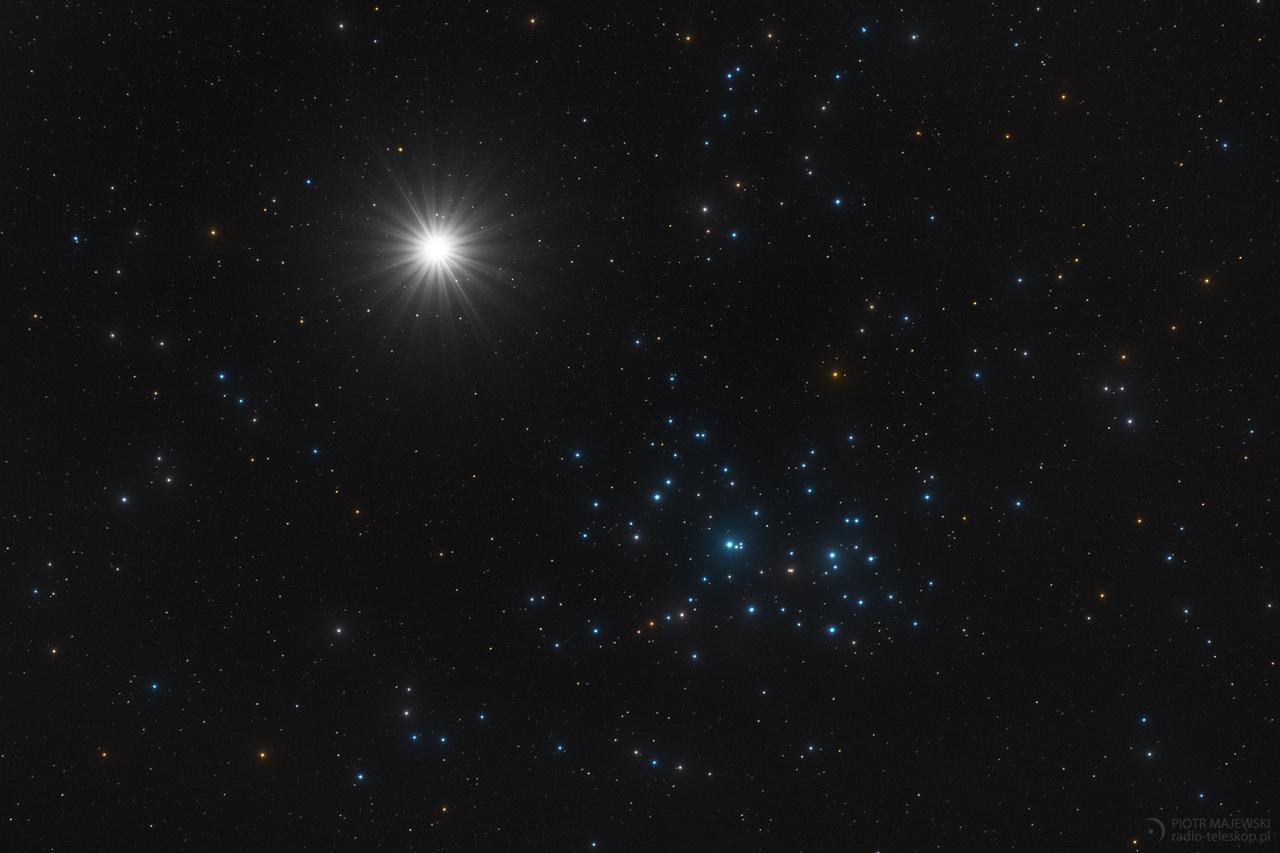 SIOSTRY. Wenus i Plejady w złączeniu 05 kwietnia 2012 roku.