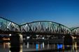 MOST MIĘDZYGWIEZDNY 3.0. Wenus i Bliźnięta nad mostem im. Józefa Piłsudskiego w Toruniu.