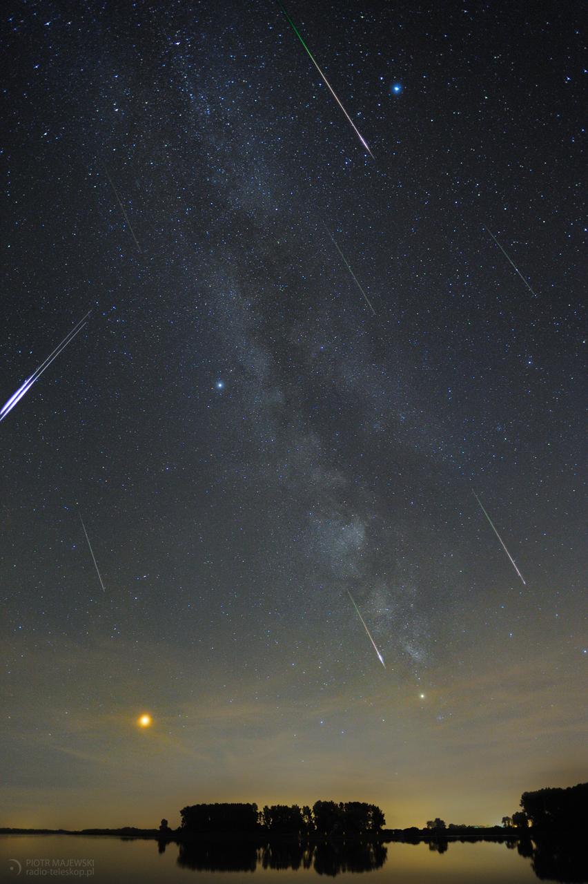 PERSEIDY 2018. Meteory z roju Perseidów.