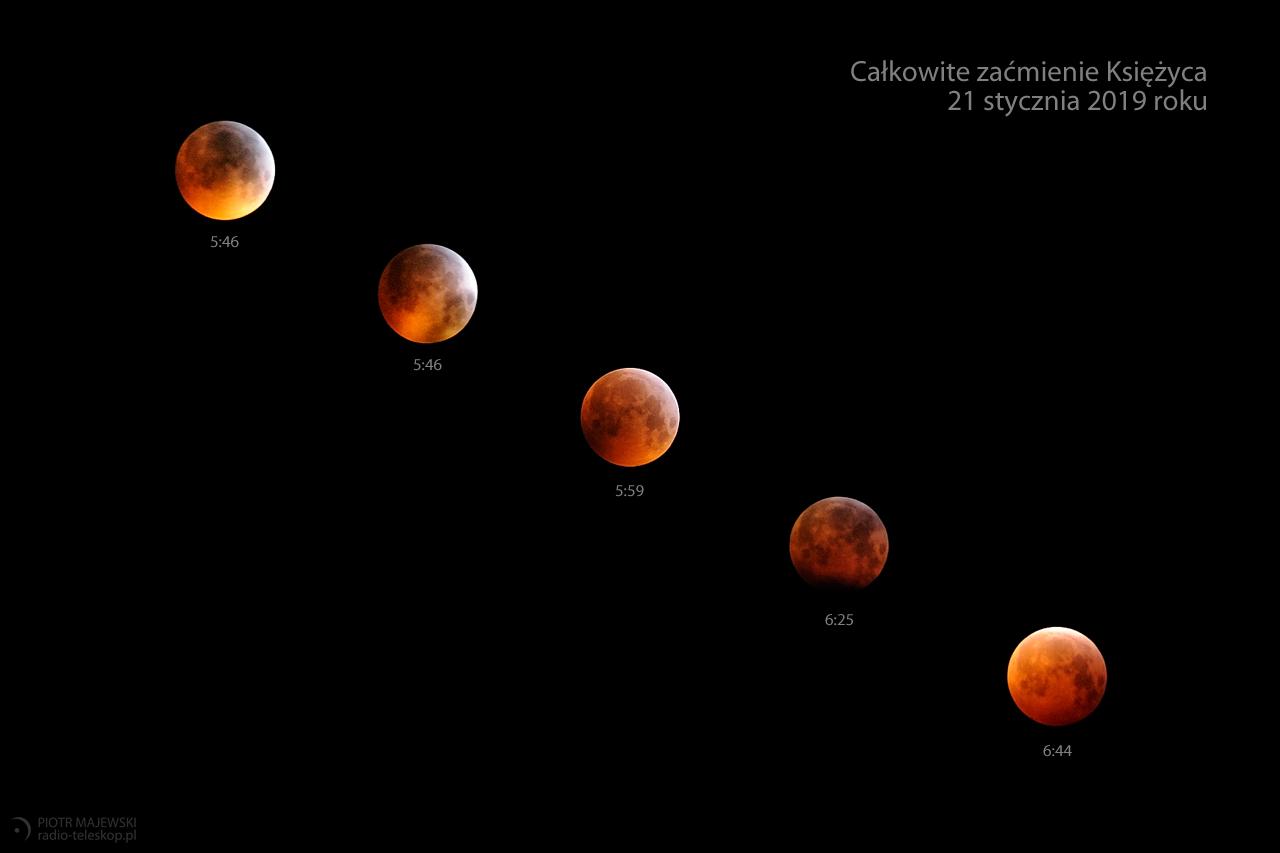 KSIĘŻYCOWE MIEDZIAKI. Całkowite zaćmienie Księżyca 21 stycznia 2019 roku.