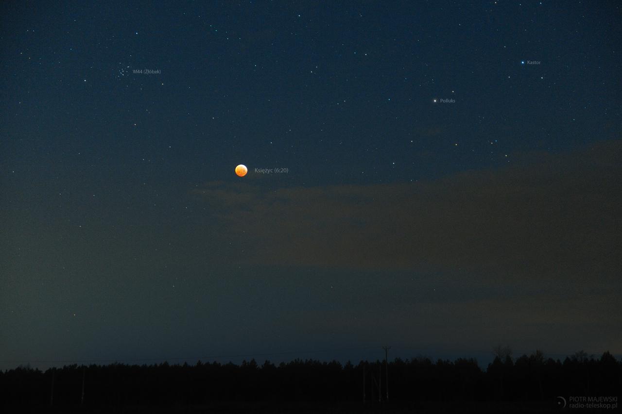 ZAĆMIENIE PRZY ZŁÓBKU. Całkowite zaćmienie Księżyca.
