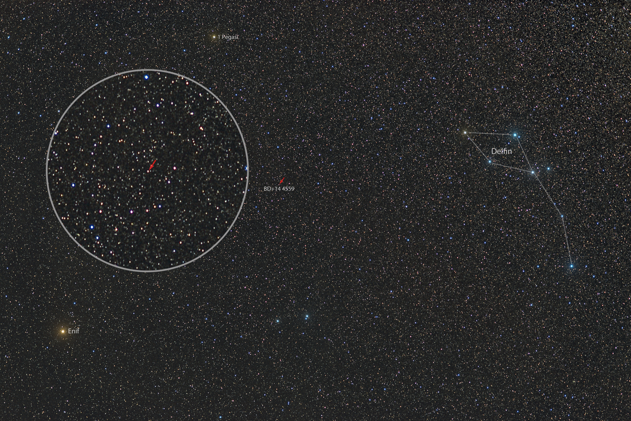 POLSKA GWIAZDA. Gwiazda BD+14 4559.