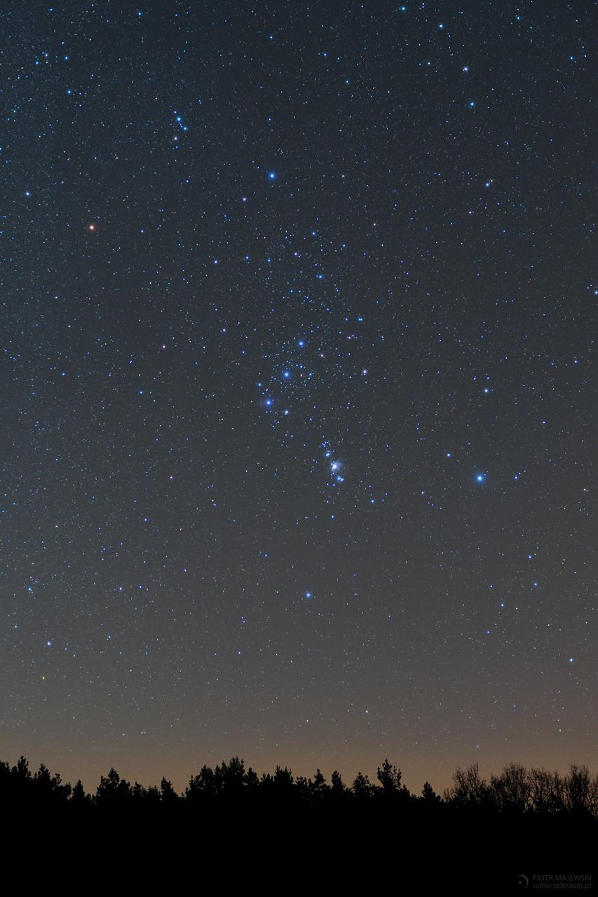 W RAMIONACH ORIONA. Orion 16 stycznia 2020 roku.