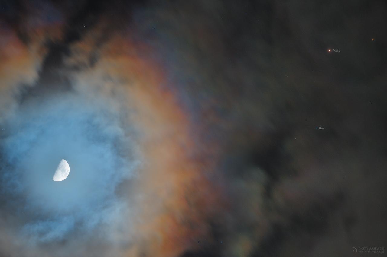 TERCET EGZOTYCZNY. Księżyc, Mars i Uran w złączeniu.