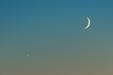 MŁODA PARA. Księżyc po nowiu i Wenus.